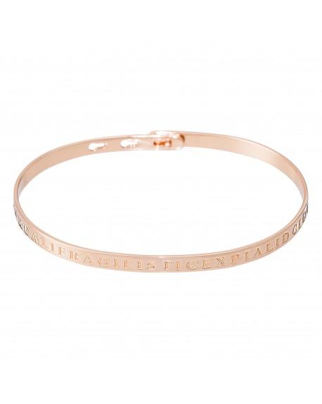"""Bracelet à message """"SUPERCALIFRAGILISTICEXPIALIDOCIOUS"""" en Laiton rosé"""