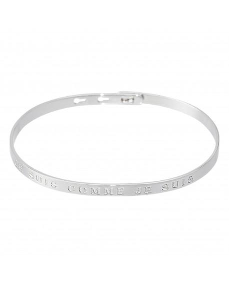 """Bracelet à message """"JE SUIS COMME JE SUIS"""" en Laiton"""