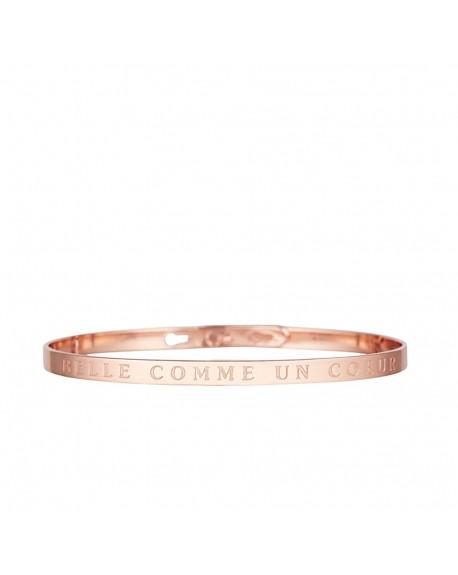 """Bracelet à message """"BELLE COMME UN CŒUR"""" rosé"""