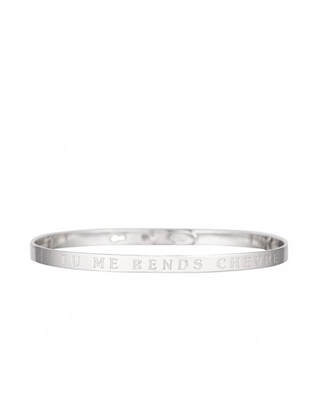 "Bracelet à message ""TU ME RENDS CHEVRE"""