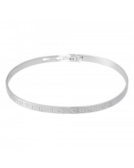 """Bracelet à message """"WINTER IS COMING."""" en Laiton"""