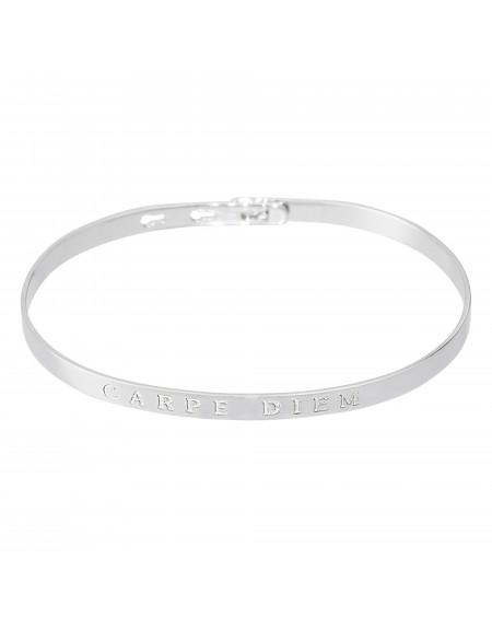 """Bracelet à message """"CARPE DIEM"""" en Laiton"""