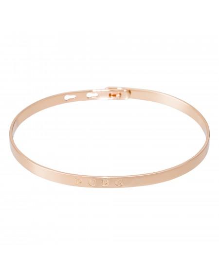 """Bracelet à message """"BCBG"""" rosé"""