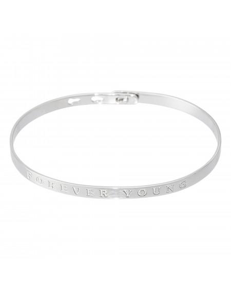 "Bracelet à message ""FOREVER YOUNG"""