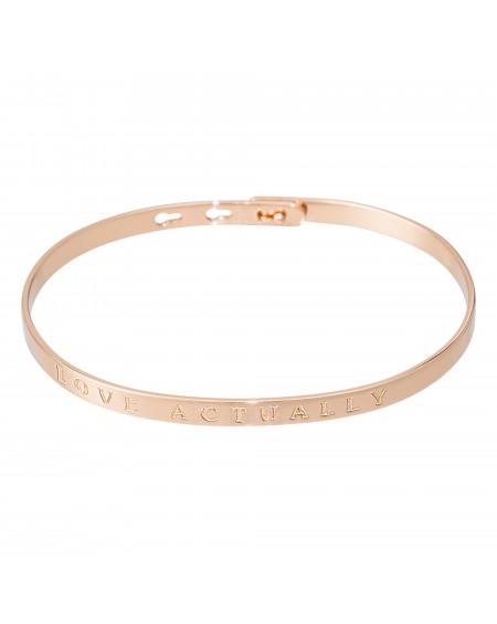 """Bracelet à message """"LOVE ACTUALLY"""" rosé"""