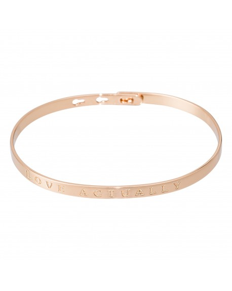 "Bracelet à message ""LOVE ACTUALLY"" rosé"