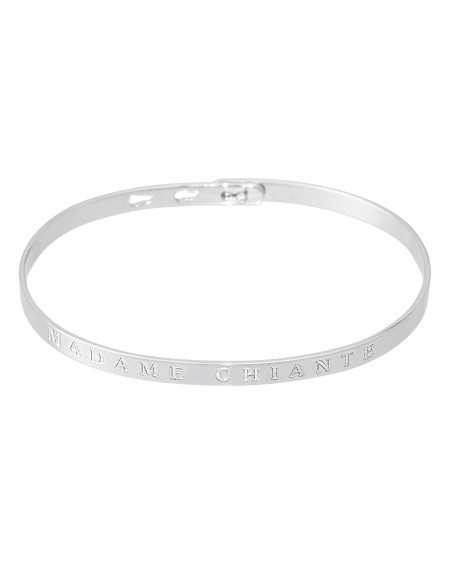 """Bracelet à message """"MADAME CHIANTE"""""""