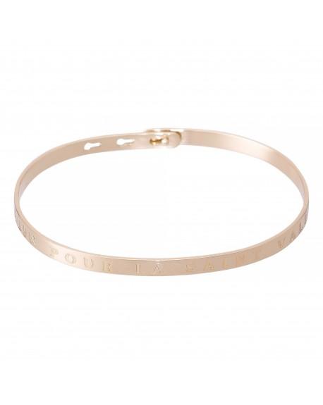 """Bracelet à message """"UN CALIN POUR LA SAINT VALENTIN"""" rosé"""