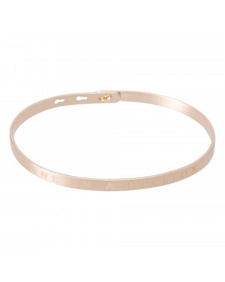 """Bracelet à message """"ONE IN A MILLION"""" en Laiton rosé"""