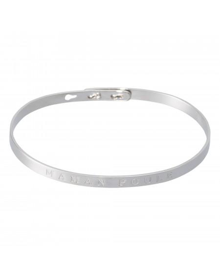 """Bracelet à message """"MAMAN POULE"""""""