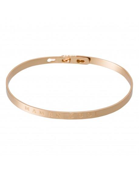 """Bracelet à message """"MAMAN COOL"""" rosé"""
