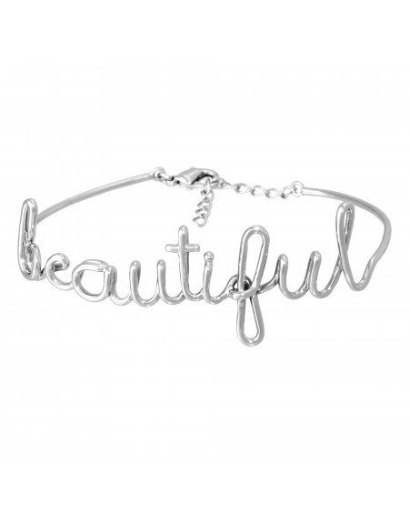 "Bracelet fil lettering ""BEAUTIFUL"""