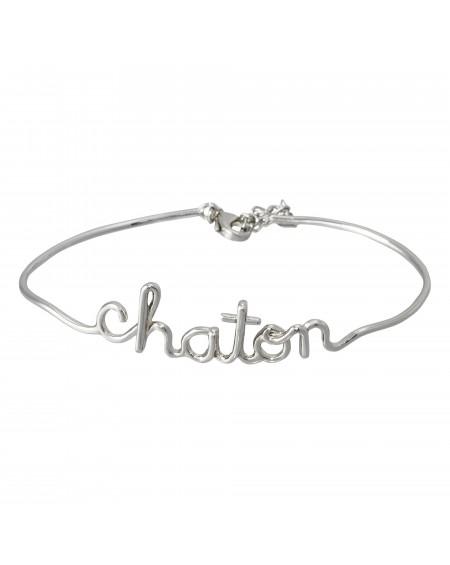 "Bracelet fil lettering ""CHATON"""