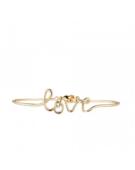 "Bracelet à message ""LOVE"" en Laiton doré"