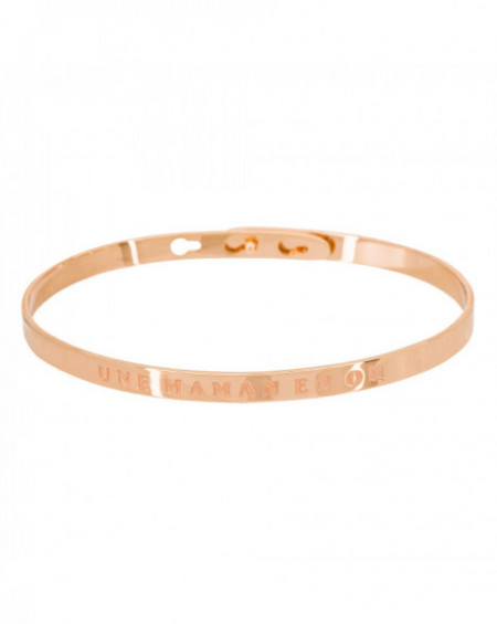 "Bracelet à message ""UNE MAMAN EN OR"" Rosé"