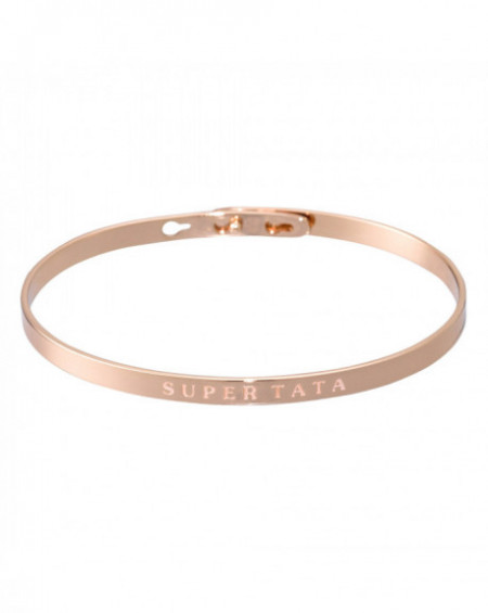 "Bracelet à message ""SUPER TATA"" Rosé"