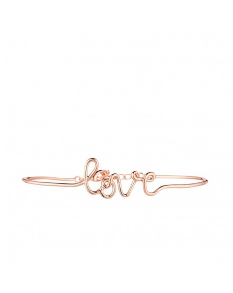 "Bracelet fil lettering ""LOVE"" rosé"