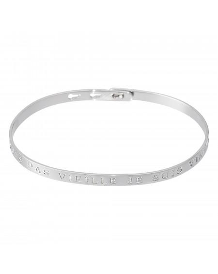"""Bracelet à message """"JE NE SUIS PAS VIEILLE JE SUIS VINTAGE"""" en Laiton"""