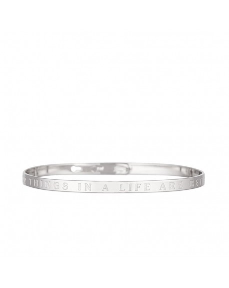 "Bracelet à message ""THE GOOD THINGS IN A LIFE ARE BETTER WITH YOU"" en Laiton"