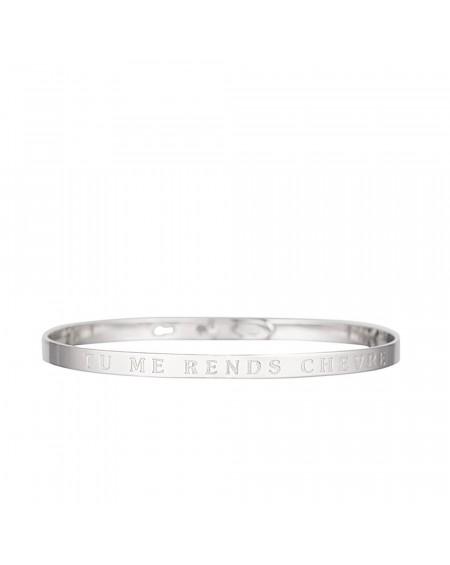 """Bracelet à message """"TU ME RENDS CHEVRE"""""""