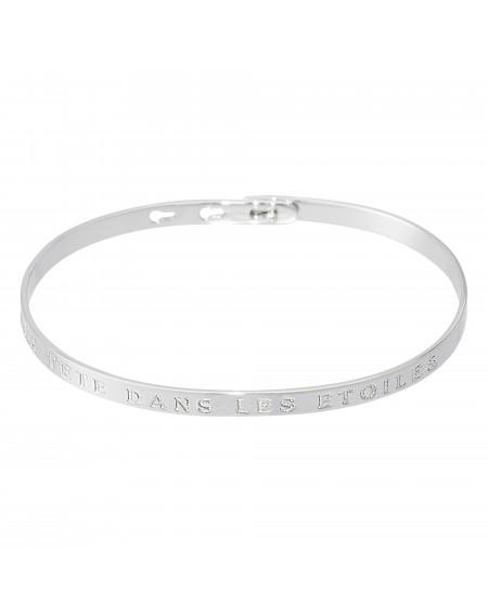 """Bracelet à message """"LA TETE DANS LES ETOILES"""""""