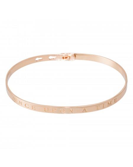 """Bracelet à message """"ONCE UPON A TIME"""" rosé"""
