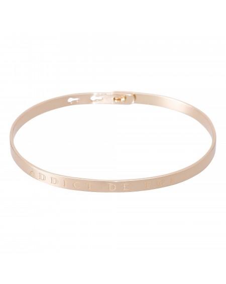 """Bracelet à message """"ADDICT DE TOI"""" rosé"""