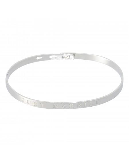 """Bracelet à message """"JUST MARRIED"""""""