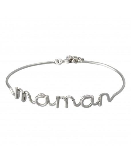 "Bracelet fil lettering ""MAMAN"""