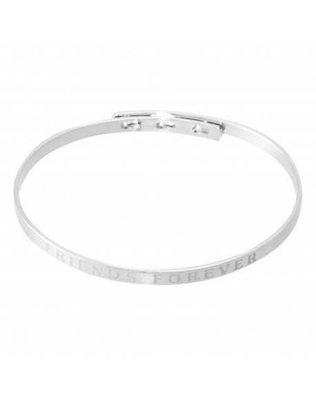 """Bracelet à message """"FRIENDS FOREVER"""" en Laiton"""