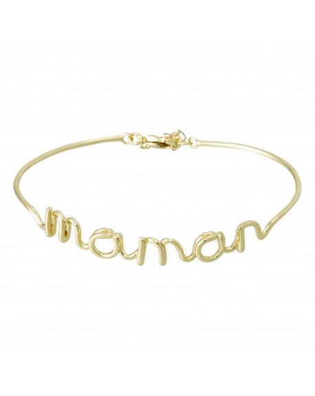 """Bracelet fil lettering """"MAMAN"""" doré"""