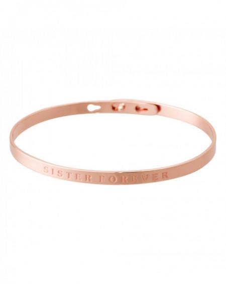 "Bracelet à message ""SISTER FOREVER"" Rosé"