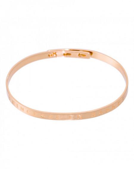 """Bracelet à message """"PRINCESSE EN BASKET"""" Rosé"""