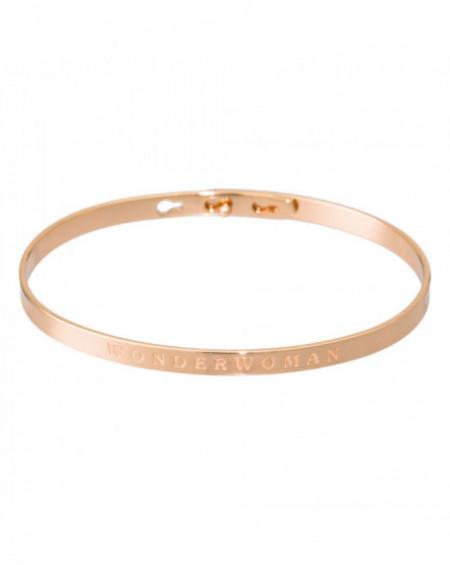 """Bracelet à message """"WONDERWOMAN"""" Rosé"""