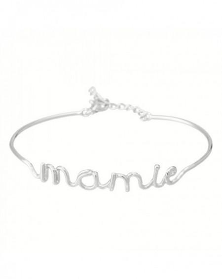 """Bracelet à message """"MAMIE"""" Argenté"""