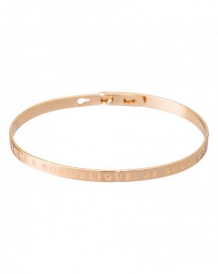 """Bracelet à message """"JE SUIS PAS BORDÉLIQUE, JE SUIS CRÉATIVE"""" Rosé"""