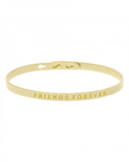 """Bracelet à message """"FRIENDS FOREVER"""" Doré"""