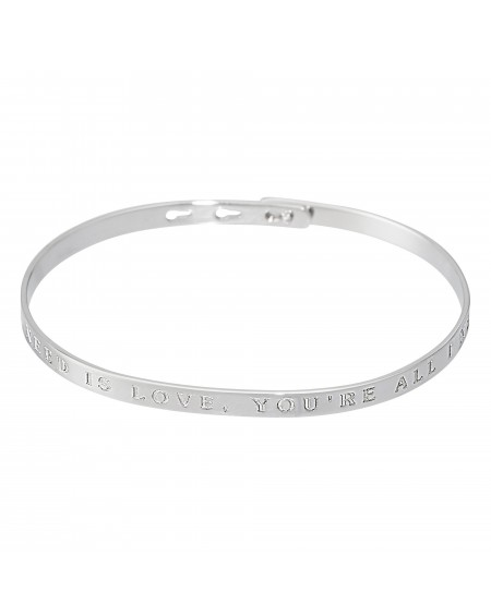 """Bracelet à message """"ALL YOU NEED IS LOVE, YOU'RE ALL I NEED"""""""