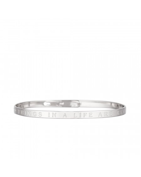 """Bracelet à message """"THE GOOD THINGS IN A LIFE ARE BETTER WITH YOU"""""""