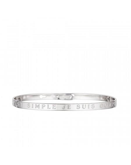 """Bracelet à message """"C'EST SIMPLE JE SUIS COMPLIQUEE"""""""